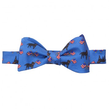 Labs & Flags Bow - Blue
